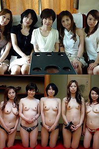 clothed and undressed asian ladies and women